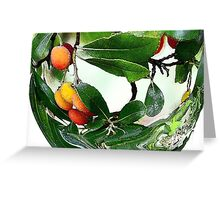 The Fruit Bowl - Abstract Greeting Card