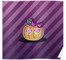 Cute and girly pumpkin  Poster