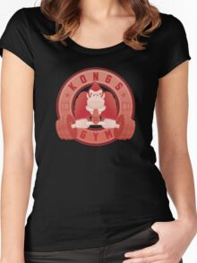 Kongs Gym (2/2) Women's Fitted Scoop T-Shirt
