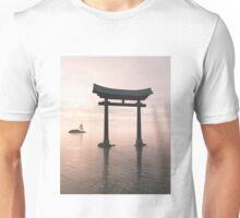 Japanese Floating Torii Gate at a Shinto Shrine, Evening Unisex T-Shirt