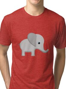 Cute Gray Baby Elephant Tri-blend T-Shirt