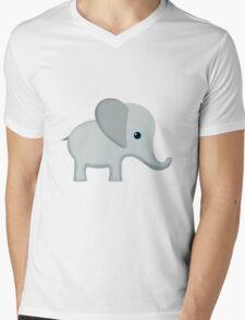 Cute Gray Baby Elephant Mens V-Neck T-Shirt