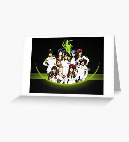 SNSD Girls' generation SoShi South Korean girl Kpop 5 Greeting Card