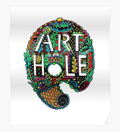 Art Holes Logo Poster
