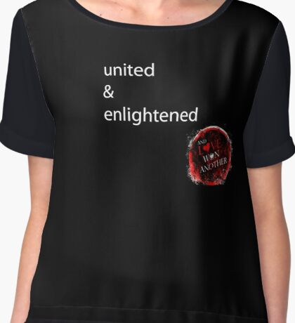 andlovewonanother and love won another one united and enlightened white Chiffon Top