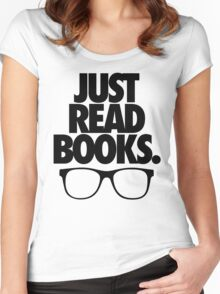 JUST READ BOOKS. Women's Fitted Scoop T-Shirt