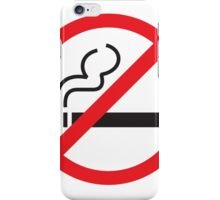 smoking forbidden iPhone Case/Skin