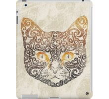 Swirly Cat iPad Case/Skin