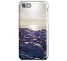 waves over white sunset rocks iPhone Case/Skin