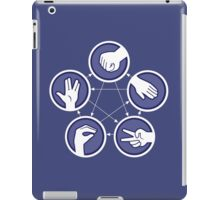 paper scissors stone iPad Case/Skin