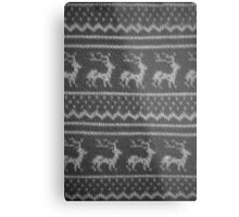 Ugly Christmas Sweater Pattern Metal Print
