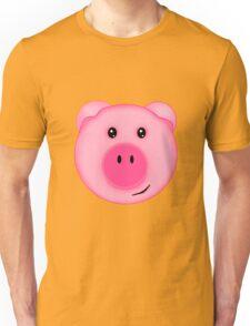 Cute Pink Farm Pig Unisex T-Shirt