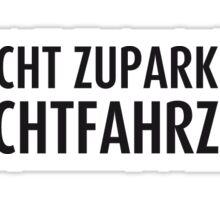 Fluchtfahrzeug Sticker
