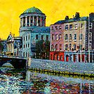 Four Courts from East, Dublin, Ireland by eolai