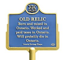 Old Relic from Ontario Photographic Print