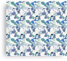Blue Tie-Dye Pattern Canvas Print