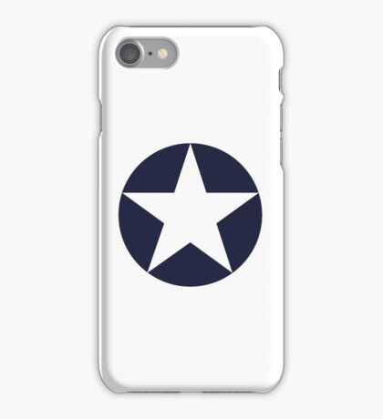 AMERICAN, WAR, Roundel, United States Air Force, Aircraft operated by the United States Navy and United States Marine Corps iPhone Case/Skin