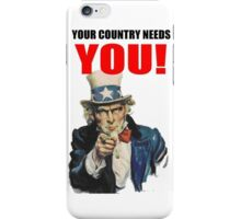 AMERICAN PATRIOT -YOUR COUNTRY NEEDS YOU- iPhone Case/Skin