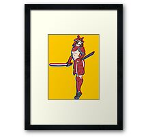 pin up samurai Framed Print