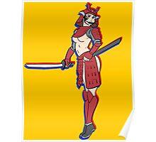 pin up samurai Poster