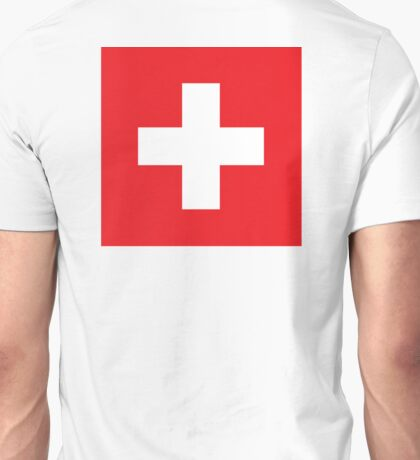 Swiss, Switzerland, Swiss Flag, Flag of Switzerland, White Cross, Swiss Confederation, Unisex T-Shirt