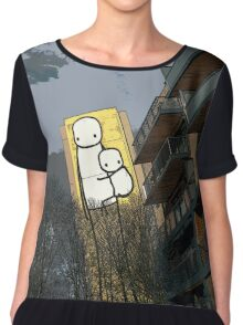 Mother and child by Stik Chiffon Top