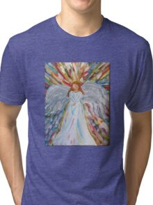 Acrylic Painting, Colorful Angel  Tri-blend T-Shirt