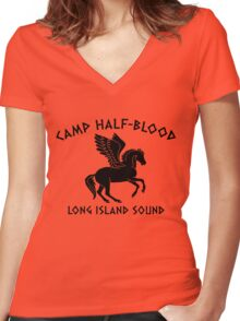 Camp Half Women's Fitted V-Neck T-Shirt