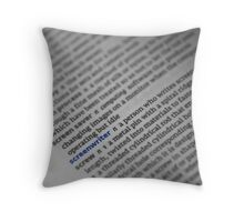 Screenwriter Throw Pillow