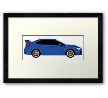 Subaru WRX STI  Framed Print