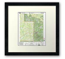 USGS TOPO Map Alabama AL Double Springs 303705 2000 24000 Framed Print