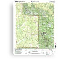 USGS TOPO Map Alabama AL Double Springs 303705 2000 24000 Canvas Print