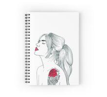 Tattoo Girl Spiral Notebook