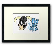 Skyrim - Fus Ro Dah Framed Print