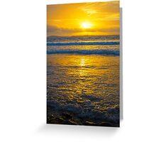 yellow sunset at beal beach Greeting Card