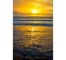 yellow sunset at beal beach Photographic Print