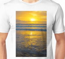 yellow sunset at beal beach Unisex T-Shirt