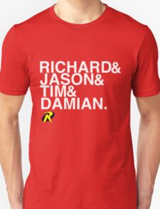Richard & Jason & Tim & Damian. Robin T-shirt and more  T-Shirt