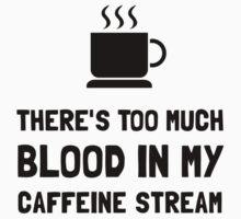 Blood In Caffeine Stream One Piece - Short Sleeve