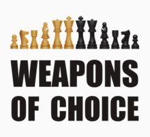 Chess Weapons Kids Tee