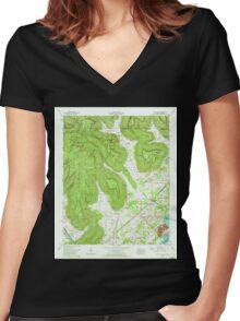 USGS TOPO Map Alabama AL Doran Cove 303698 1967 24000 Women's Fitted V-Neck T-Shirt