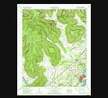 USGS TOPO Map Alabama AL Doran Cove 303698 1967 24000 Unisex T-Shirt