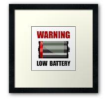Low Battery Framed Print