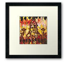 Lakshmi Goddess of Abundance yoga inspired art Framed Print