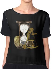 Calculating Time And Direction At Sea  Chiffon Top