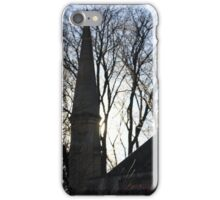 Afternoon sun through trees and a chapel  iPhone Case/Skin