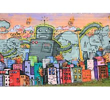 Robot Wars Graffiti - genuine urban art Photographic Print