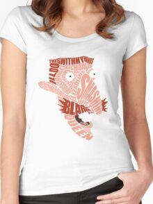 Nigel Thornberry Typography Women's Fitted Scoop T-Shirt