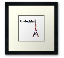 Undecided Framed Print