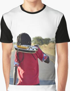 man carrying a guitar Graphic T-Shirt